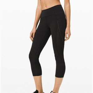 "Lululemon Run off Route Crop 21"" Leggings"